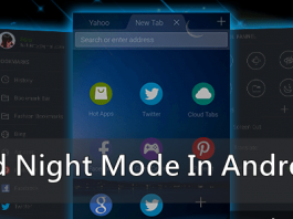 Night mode feature on your Android