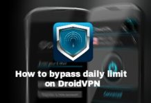 How to bypass DroidVPN bandwidth limit on Free Accounts