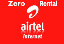 activate Zero Rental 3G pack on Airtel