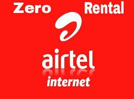 activate Zero Rental 3G pack on Airtel