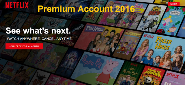 Free Netflix Accounts & Password generator