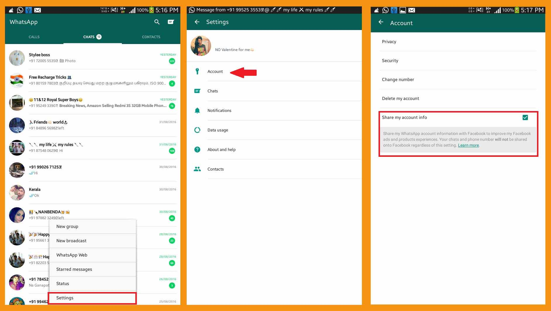 How to Change Your WhatsApp Settings Before Facebook Data Sharing Begins