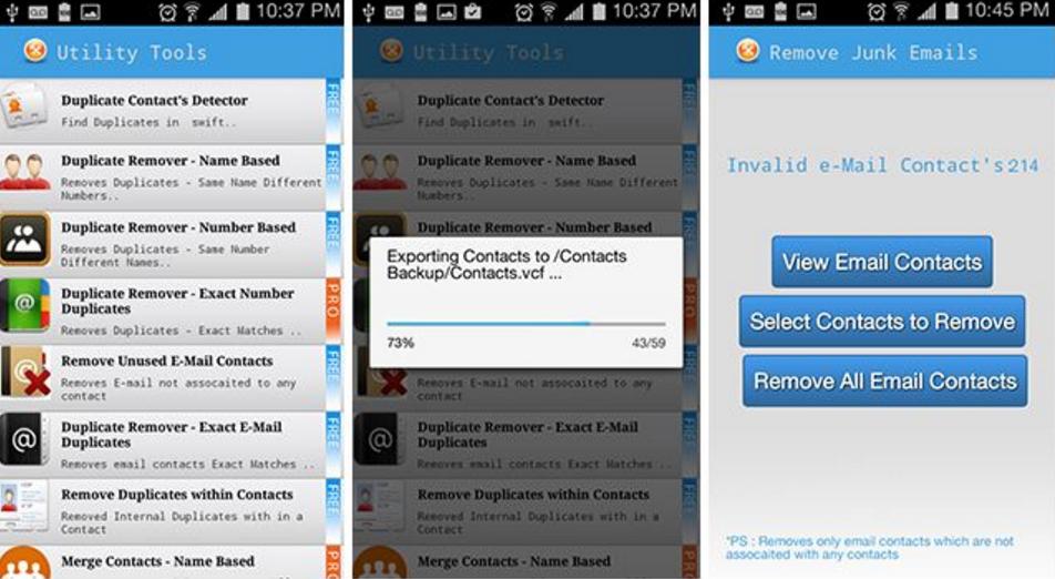 Best cleaner apps: Duplicate Contact & Utilities