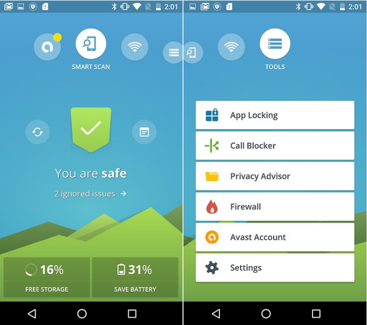 Avast - best android antivirus app
