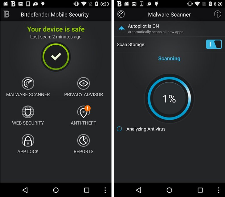 bitdefender - best antivirus apps for android phones