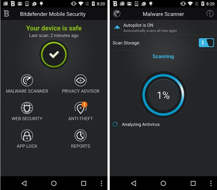 bitdefender - best antivirus apps for android phones