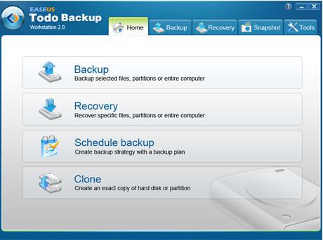 Best backup software EASEUS Todo Backup