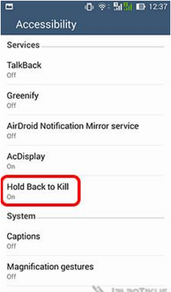 How to Force stop frozen Apps