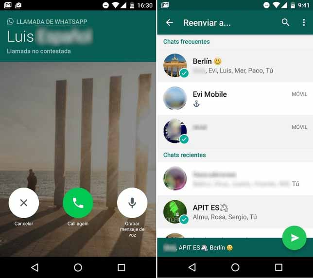 Whatsapp answering forward TechinDroid