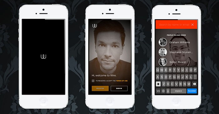wire chat app
