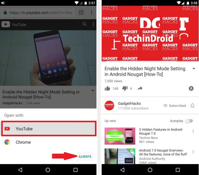 Open Links With the preferred App on Android
