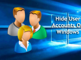 How to Hide user accounts from Windows 10 login screen