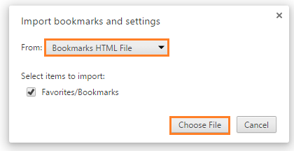How to Import and Export bookmarks - Chrome