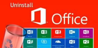 uninstall office 2016, 2010, 2013, office 365