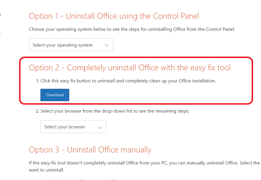 Office 2016 uninstall tool download