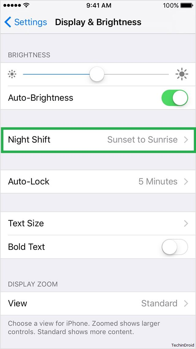 Night Shift mode Settings for iPhone & iPad
