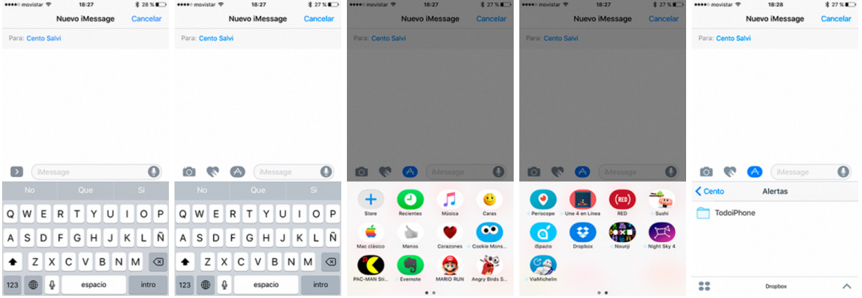 Share dropbox files in iMessage