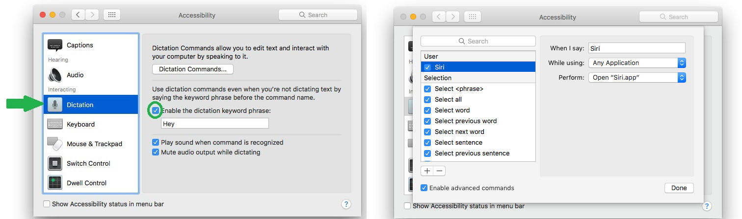how to activate siri on mac