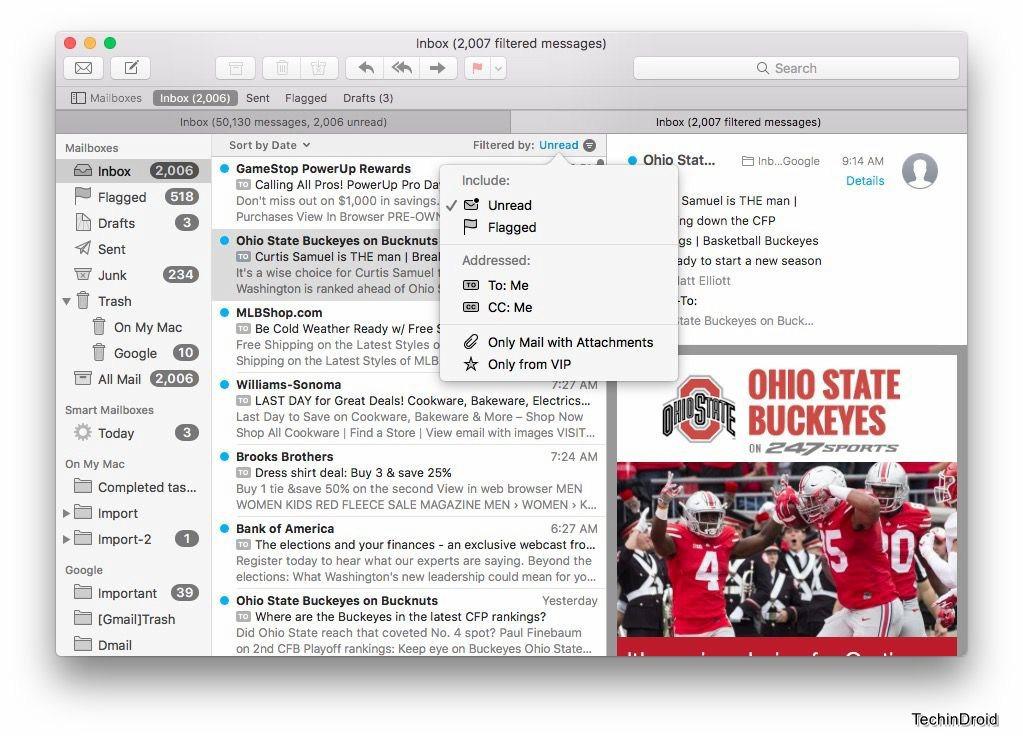 mac os sierra mail app