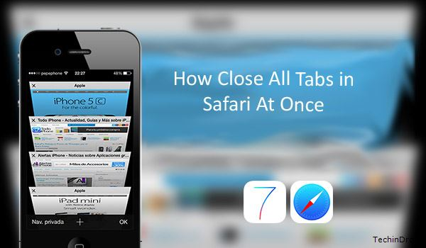 How to Close All tabs on Safari iOS 9 10 iPhone iPad 5s 6 7
