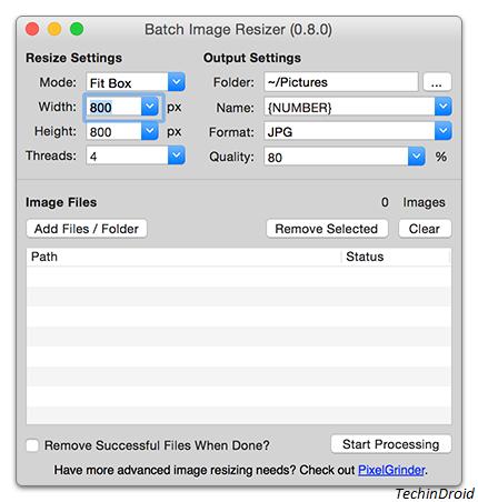OSX Image Resizer