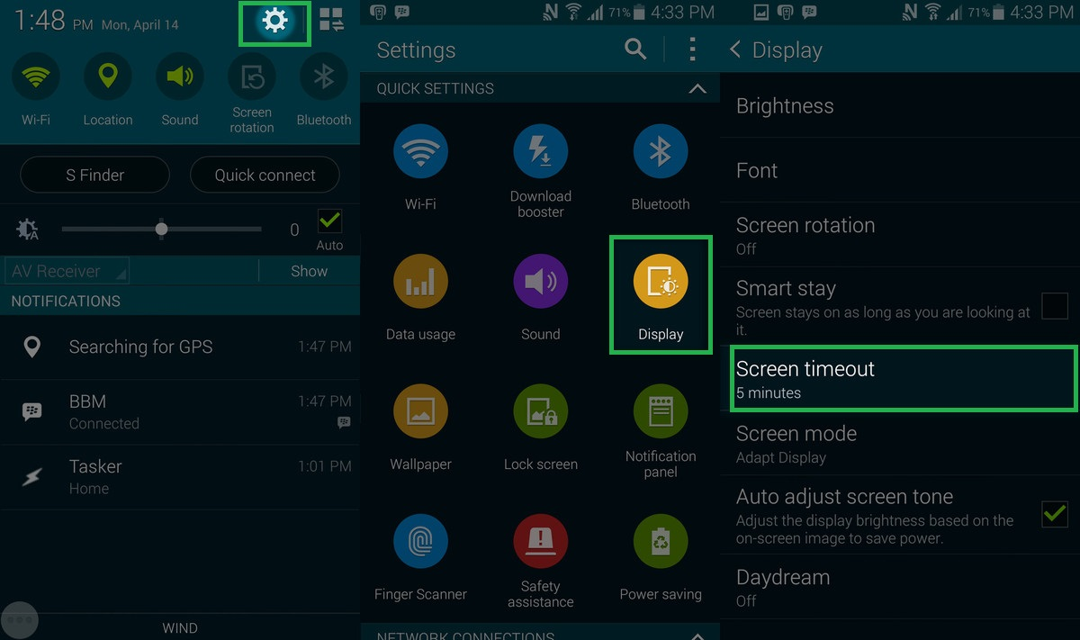 save battery on android kitkat
