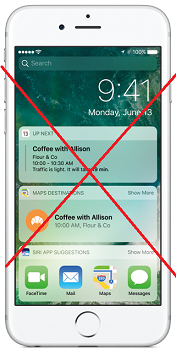 disable Lockscreen Widgets on iPhone iOS 10