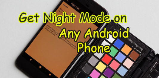 How to Enable Get Night mode on Android phone set night mode