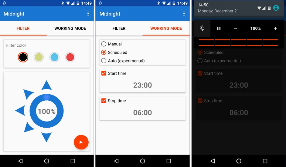 reduce brightness below minimum of android screen