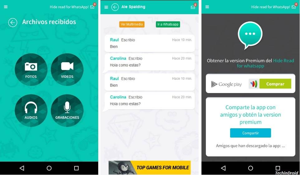 Whatsapp double tick hide app
