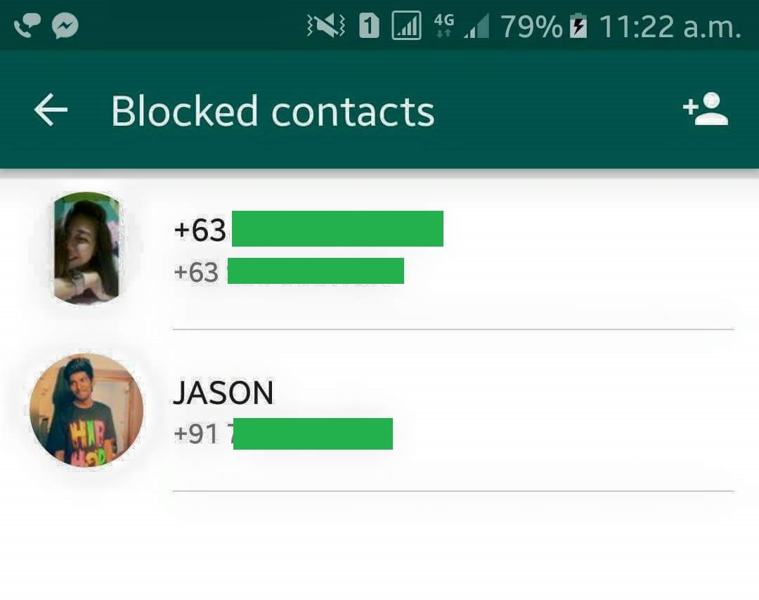 How to Remove a Blocked contact in WhatsApp