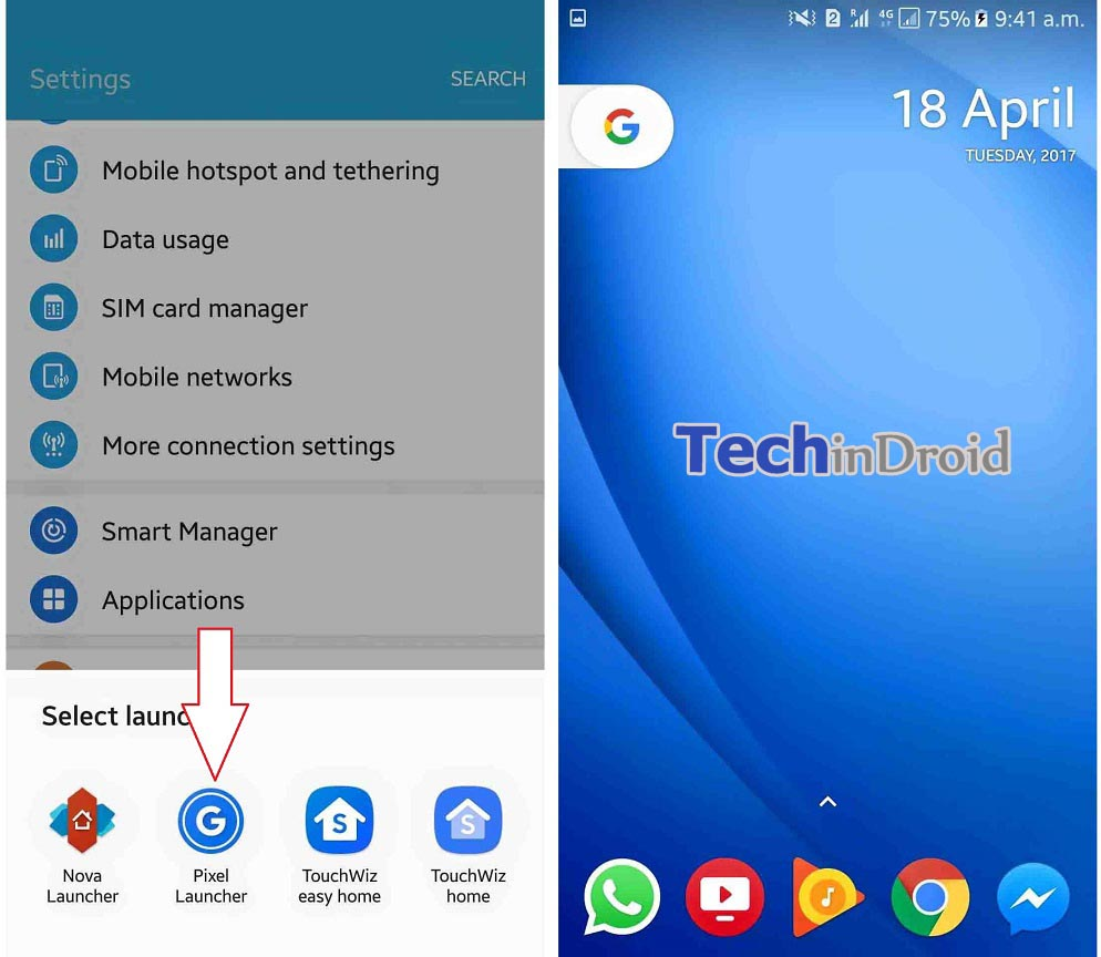 android o launcher parou