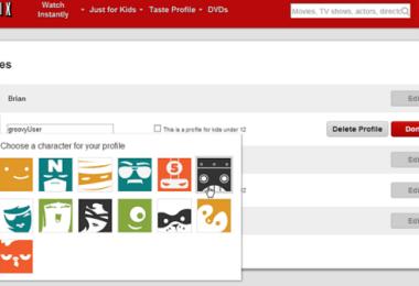 Customize user Profiles on netflix