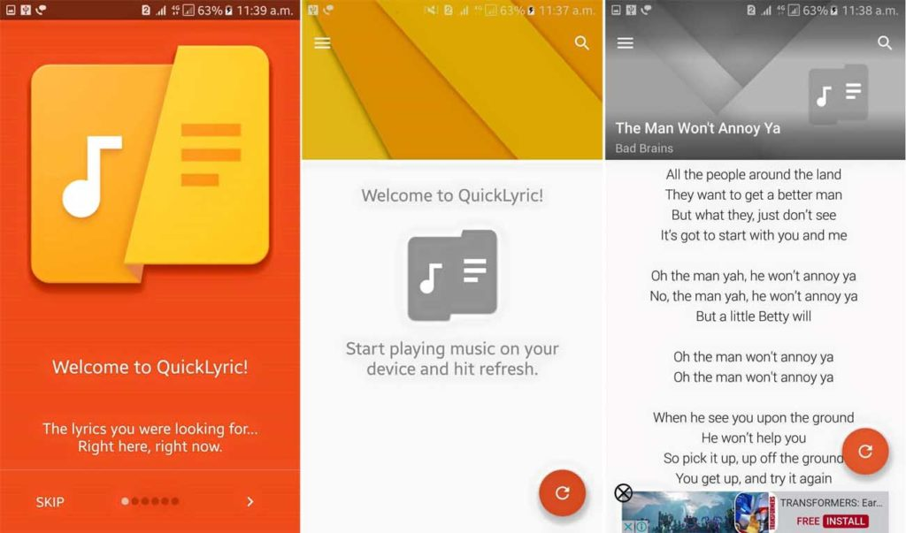 Lyrics App