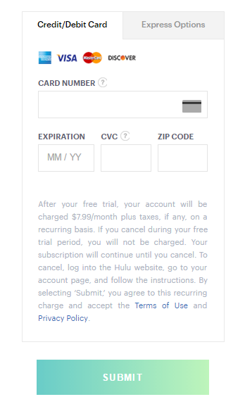 Hulu Free Trial No Credit Card