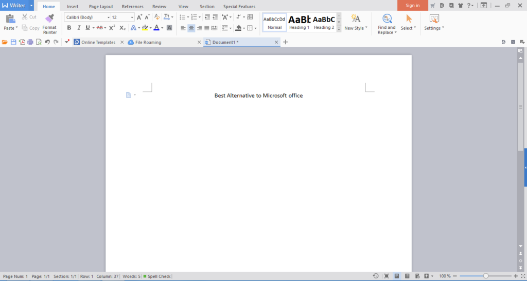 microsoft office alternative for windows 10
