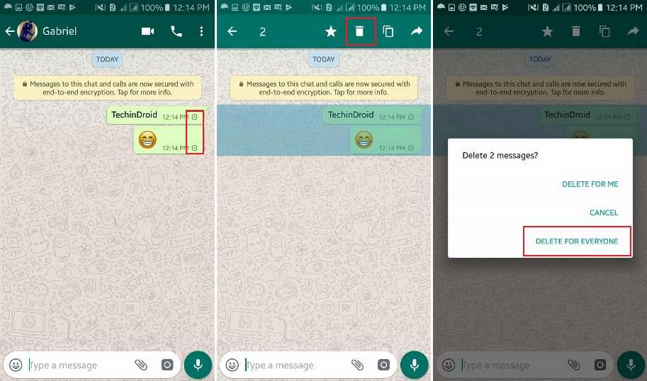 undo send messages in whatsapp