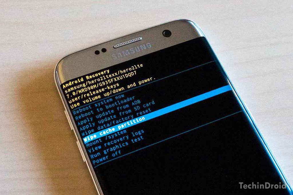 How to Wipe the Cache partition S7 Edge