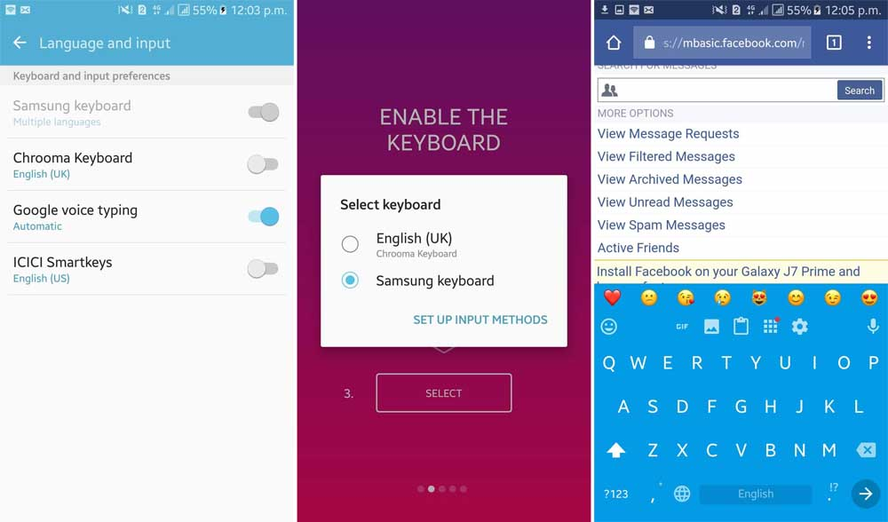 How to Change Keyboard on Android phone or tablet - TechinDroid com