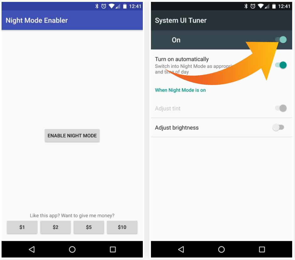 How to Enable Hidden Night Mode feature on Android 7.0 / 7 ...