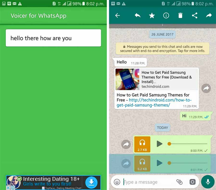 How to convert WhatsApp Voice notes into Text Android