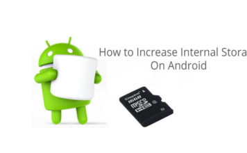 How to Increase Internal Memory space on Android phone without root