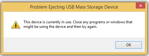 Fix Problem Ejecting USB Mass Storage Device