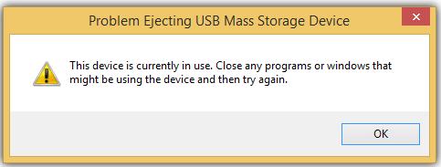 Fix Problem Ejecting USB Mass Storage Device