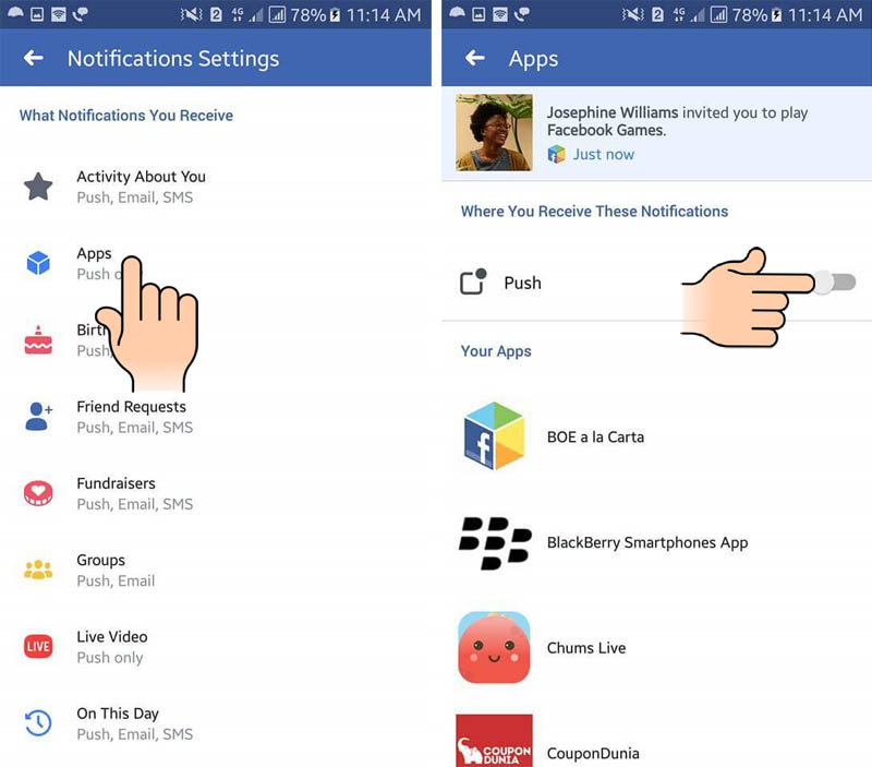 How to Disable Facebook notifications on Android