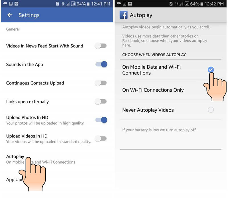 How to limit Facebook Data usage