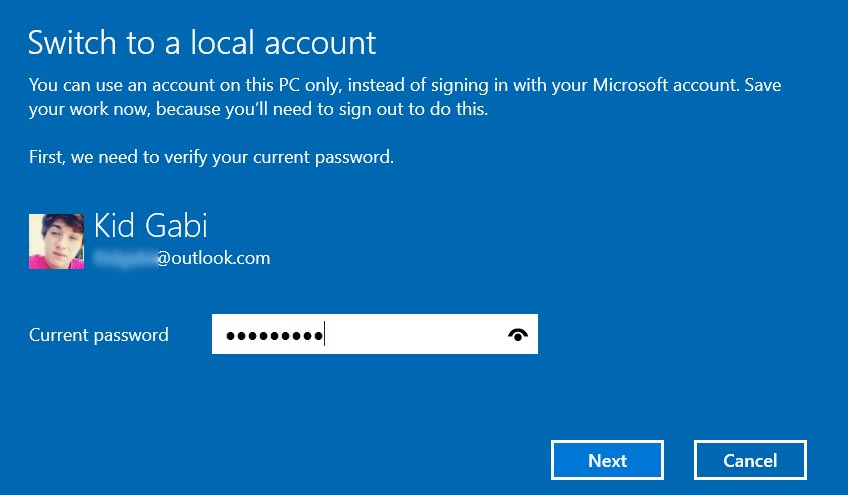 remove sign in password windows 10