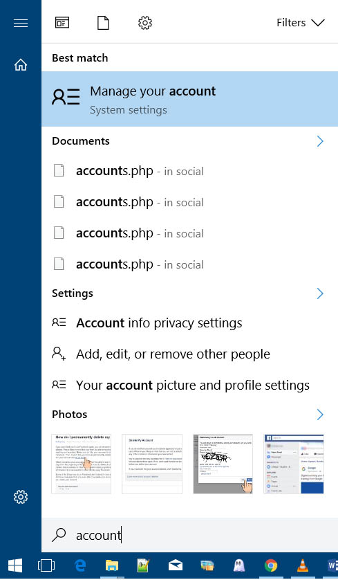 disable Sign in password from Windows 10
