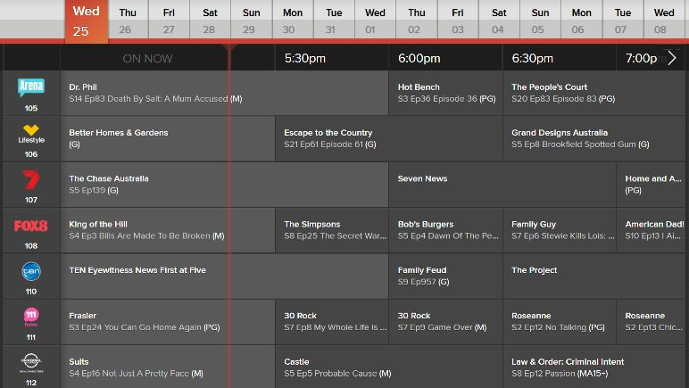 Foxtel tv Guide Online