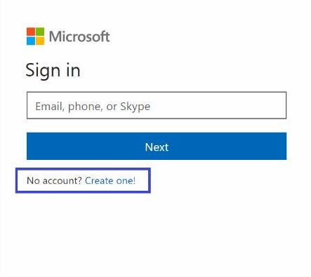 Hotmail Sign up